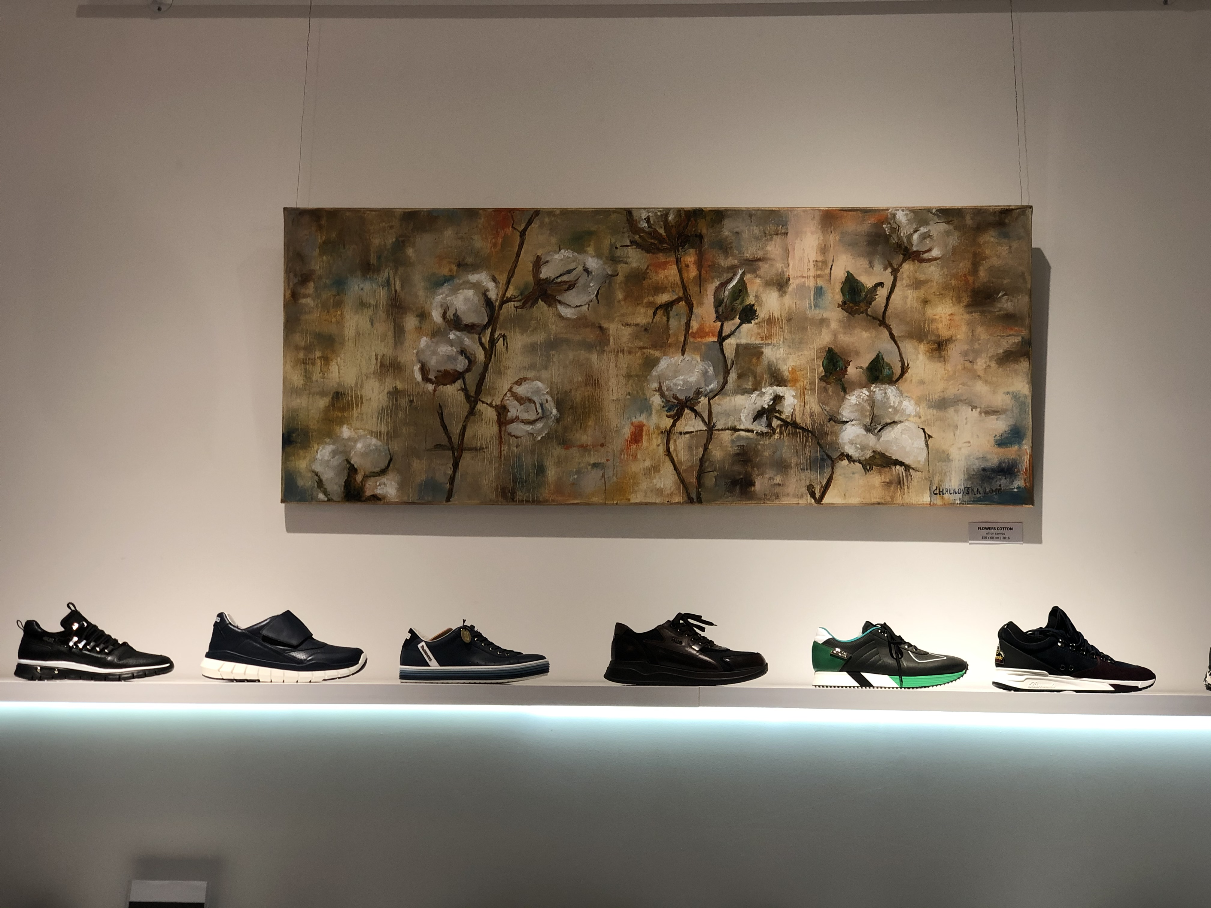 """Collaborations in the exhibition space in the boutique """"Balta Kumode"""""""